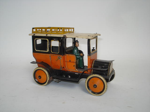 A Greppert & Kelch tinplate c/w Taxi, circa 1912