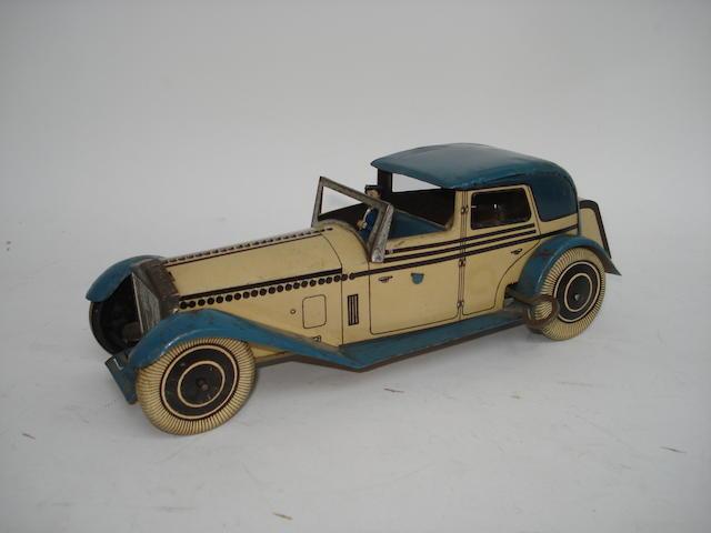 Wells tinpalte c/w Rolls Royce coupé de ville, 1930s