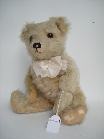 J.K Farnell Lilac mohair Teddy Bear