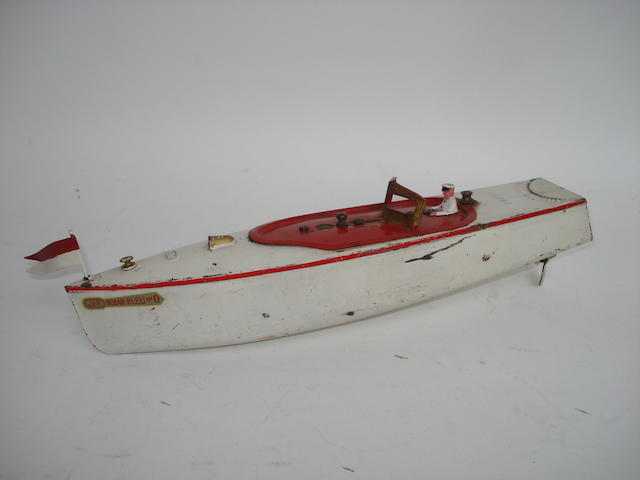 JeP c/w Ruban Bleu No.0 Speed Boat, 1930s