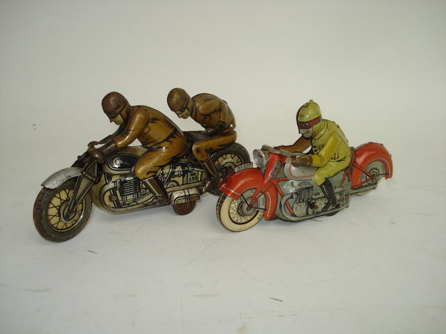 Two German tinplate c/w Motorcyclists 2