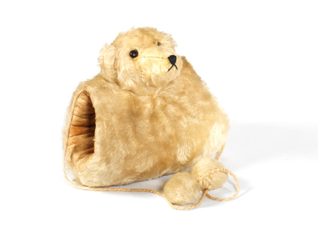 White mohair Teddy bear muff, German circa 1910