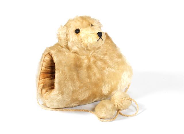 White mohair Teddy bear muff, German circa 1910