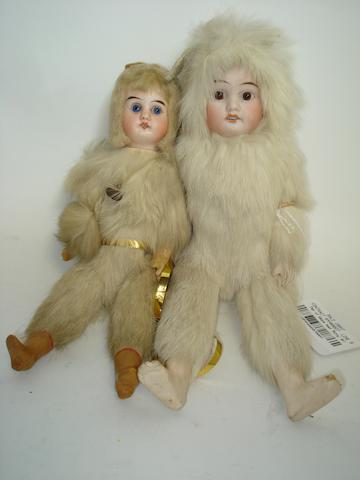 Pair of bisque head 'Bunny' dolls