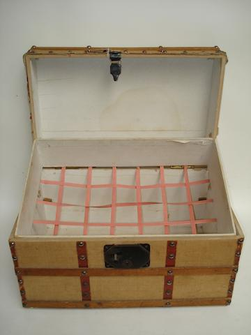 Wooden dolls trunk