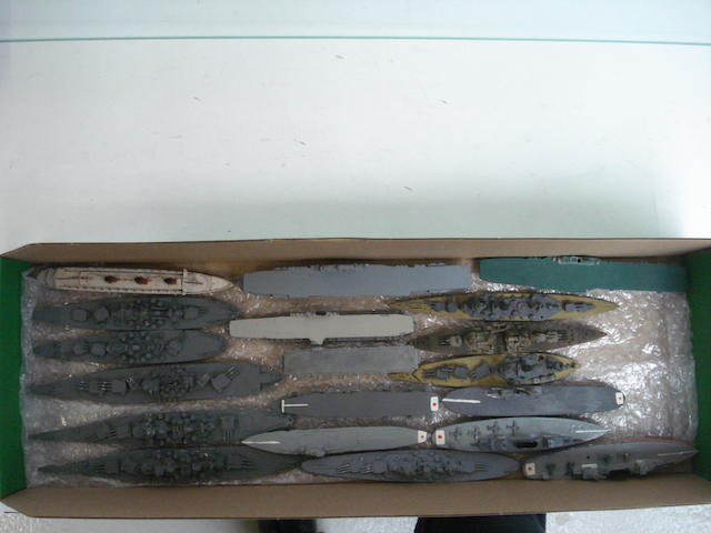 Waterline model ships 1/1200 scale approx 20