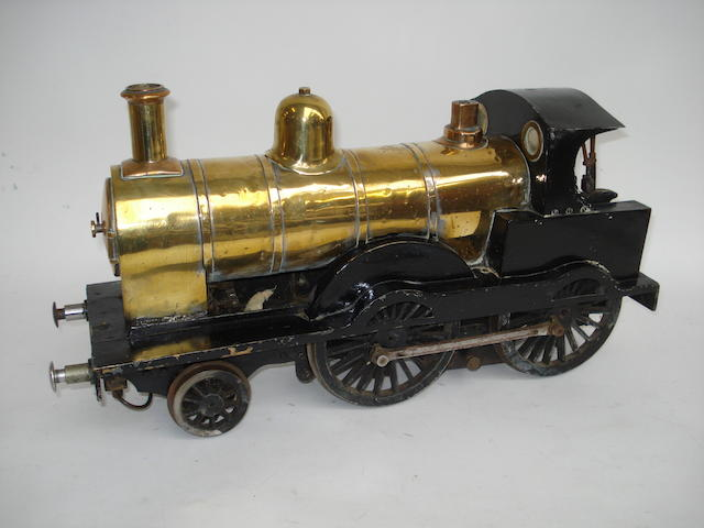 A 3 1/2in gauge model of a 2-4-0 locomotive