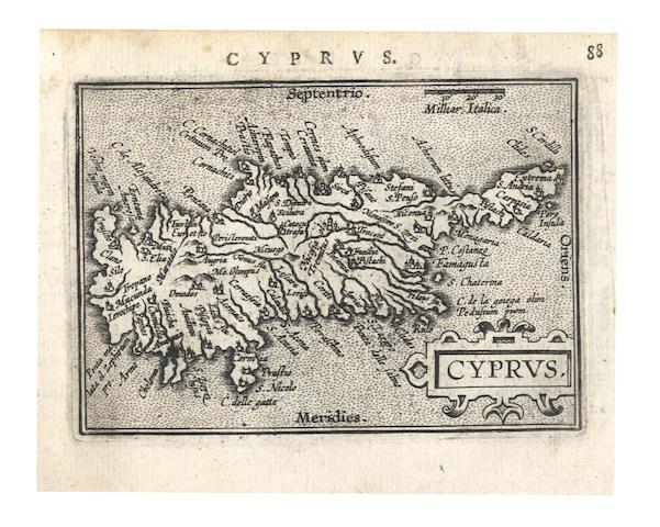 MAPS AND ATLASES. ORTELIUS (ABRAHAM) Abraham Ortelius his Epitome of the Theatre of the Worlde, c.1603