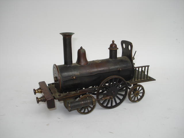 A late 19th century 2 1/2in gauge 2-2-2 Dribbler, possibly by Steven Model Dockyard,