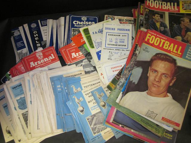 A collection of mainly London clubs football programmes