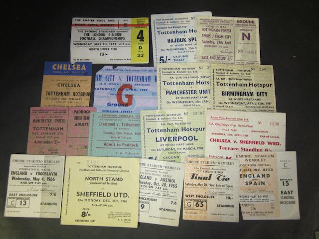 A collection of match tickets