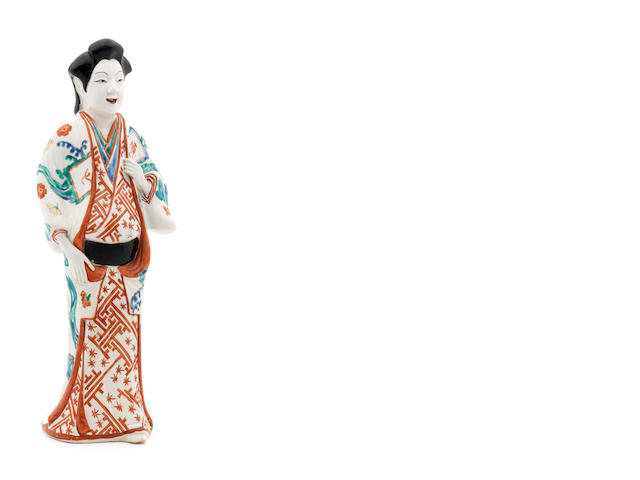 A kakiemon model of a bijin (beauty) Late 17th century