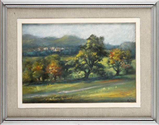 Frederick Lawson (British, 1888-1968) A rural landscape