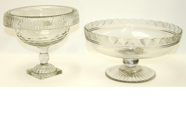 Two cut-glass tazza, circa 1800