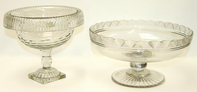 Two cut-glass tazza, circa 1800