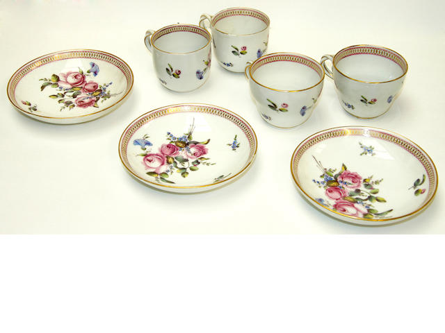 A Meissen part service, late 19th century