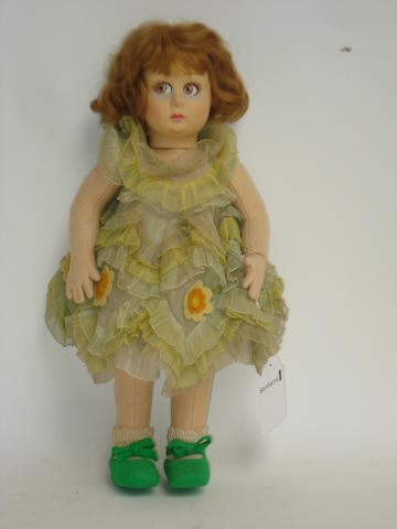 Lenci felt doll, circa 1930