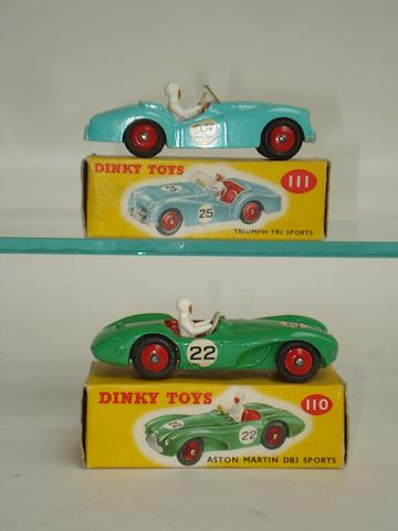 Dinky 110 Aston Martin DB3 and 111 Triumph TR2 Sports cars 2