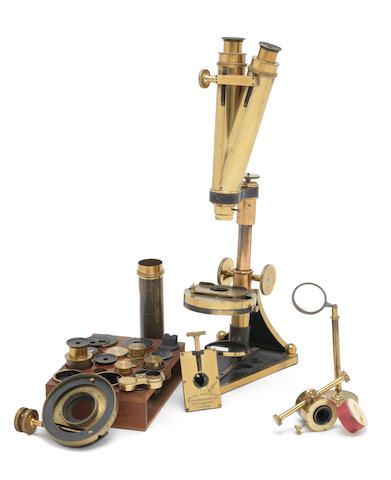 A Smith, Beck & Beck compound binocular microscope,  English, late 19th century,