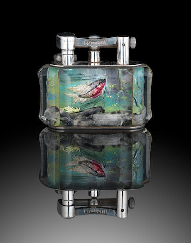 DUNHILL: An 'Aquarium' lighter