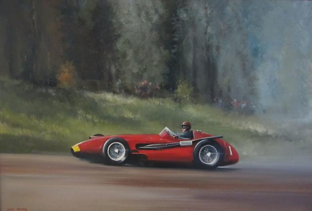 Dion Pears (1929-1985); Juan Manuel Fangio, Maserati 250F, 1957 German Grand Prix,
