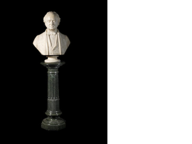 After Matthew Noble, British (1817-1876) A 19th century marble bust of Dr Robert Bentley Todd