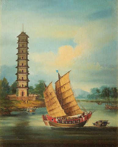 Anglo-Chinese School, 19th Century A pagoda in Kuangtung