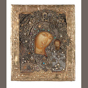 The Kazanskaya Mother of God Russia, 18th century.