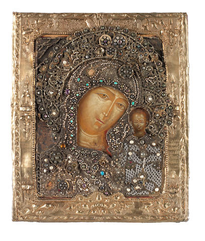 The Kazanskaya Mother of God Russia, 18th century<BR />