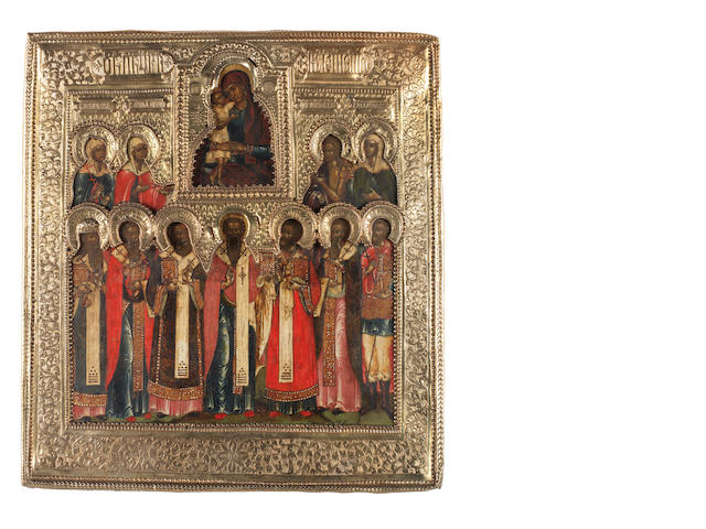 The Veneration of the Icon of the Mother of God Russia, 18th century