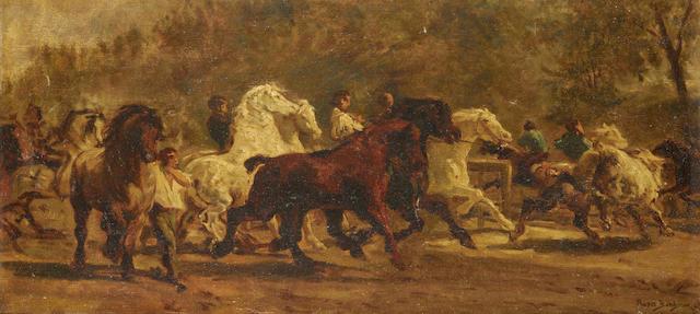 After Rosa Bonheur Horse fair