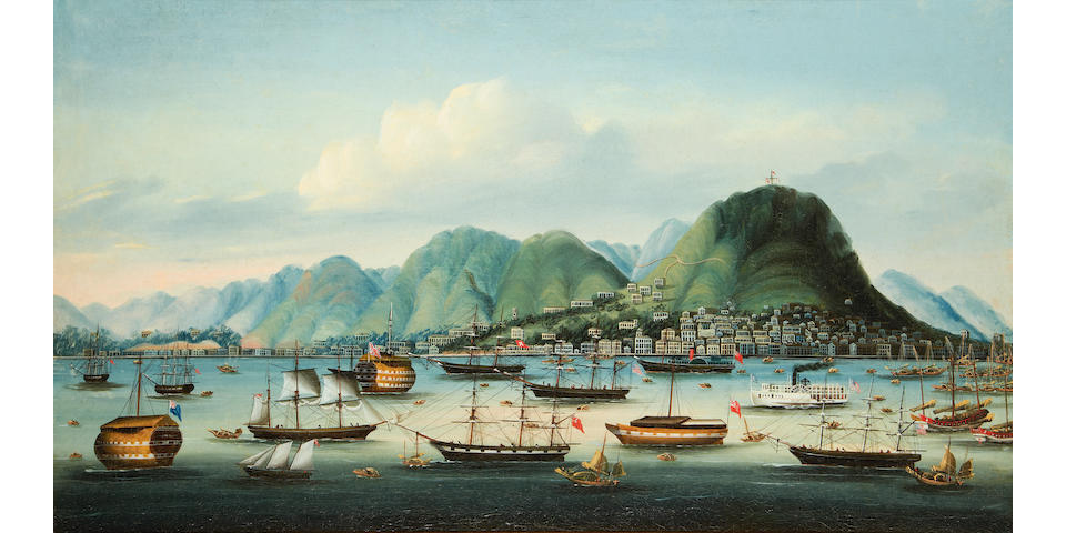 Anglo-Chinese School, late 19th Century Hong Kong Harbour and the city of Victoria
