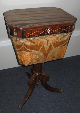 A Continental sewing table, 45cm wide.