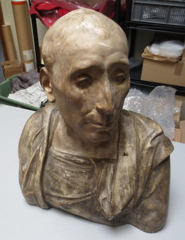A 20th century plaster bust