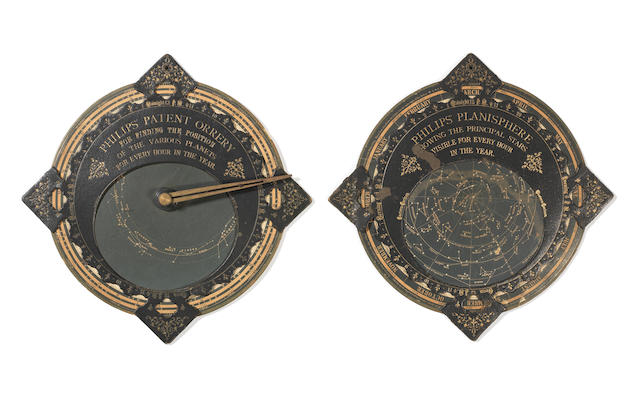 A Philips' Planisphere and Patent Orrery,  made in Germany, published in England,  circa 1920,  (2)