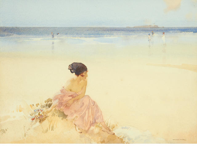 Sir William Russell Flint R.A., P.R.W.S. (British, 1880-1969) 'Strawberries'