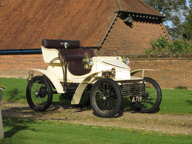 Ordered new for Percy Kidner, Vauxhall Managing Director, one family ownership since 1904, believed to be the oldest known surviving Vauxhall,1903 Vauxhall 5hp Two-seater Light Car  Chassis no. 0335 Engine no. 0335