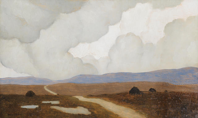 Paul Henry R.H.A. (Irish, 1876-1958) The Long Road 30.2 x 50.8 cm. (12 x 20 in.)