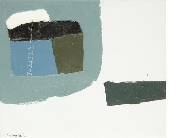 Padraig Macmiadhachain R.W.A. (Irish, born 1929) 'Mist in Cornish harbour'; 'Dark boat near the Pier, Cornwall' each 24 x 30cm (9 1/2 x 11 3/4in)(2)