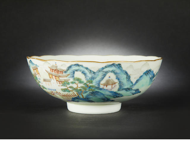 A famille rose bowl Daoguang six-character mark