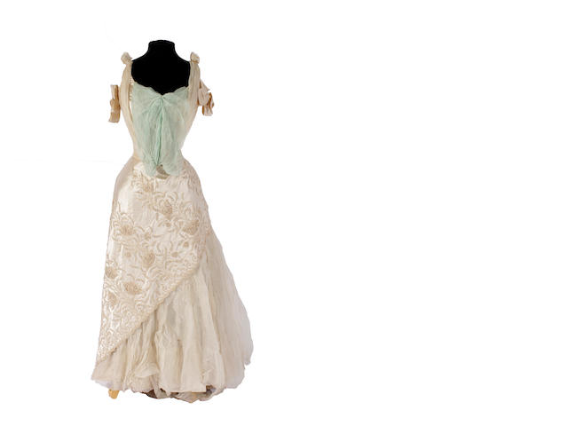 A circa 1900 wedding dress