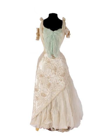 A circa 1900 wedding dress