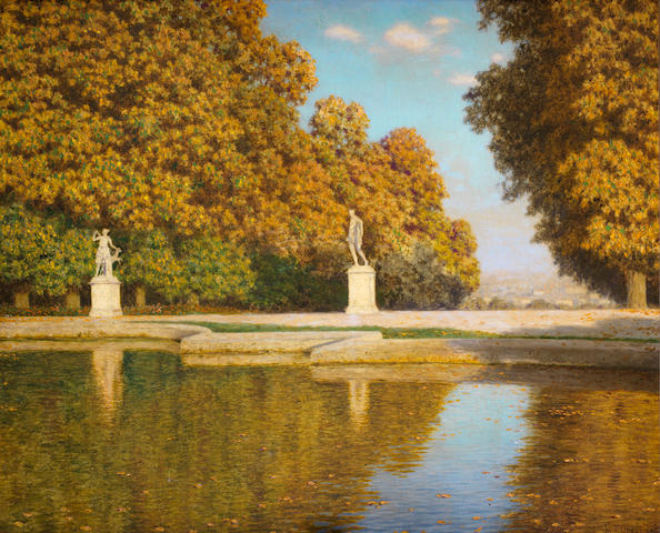 Ivan Fedorovich Choultsé  (Russian, 1877-1932) 'Autumn in the Park of St. Cloud'