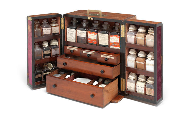 An apothecary's chest,  English,  mid 19th century,