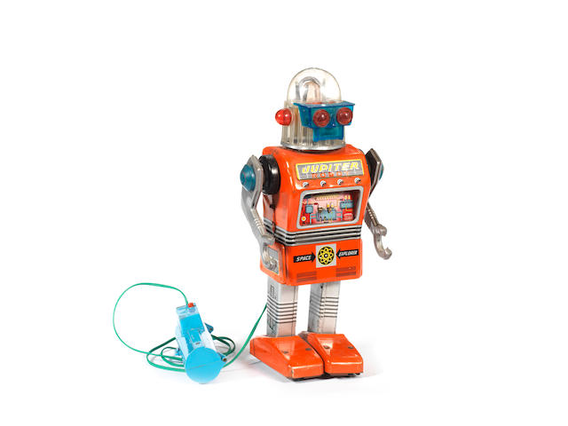 A rare Yonezawa battery operated Jupiter Robot