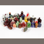A collection of forty-two various snuff bottles and odd stoppers