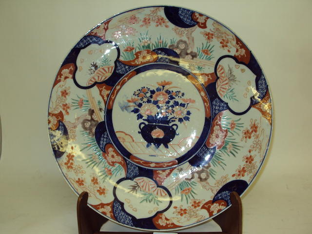 A large Japanese Imari charger