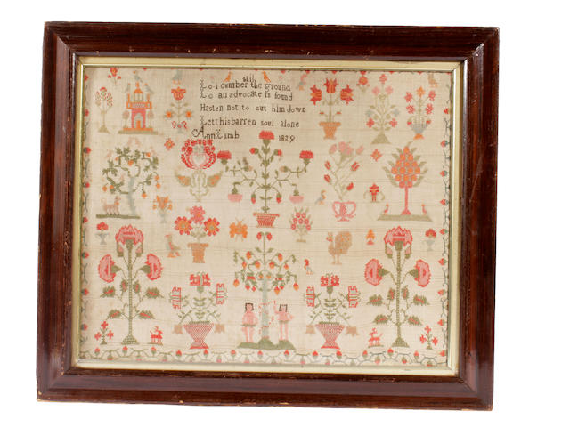 An early Victorian sampler
