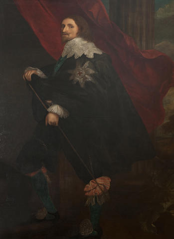 After Sir Anthony Van Dyck Portrait of Philip, 4th Earl of Pembroke 80in by 48in