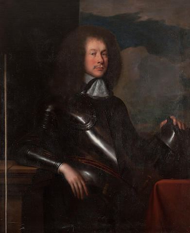 John Michael Wright (British, 1617-1694) Portrait of Henry, 3rd Lord Arundel of Wardour and Keeper of the Privy Seal, in armour